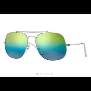 Ray-ban RB3561, mirror green-blue gradient